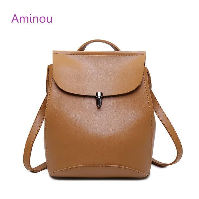 90c9955af0f71 2018 marka projekt Pu skórzane damskie plecaki torba szkolna ucznia plecak  rocznika panie kobiety kobiet torby