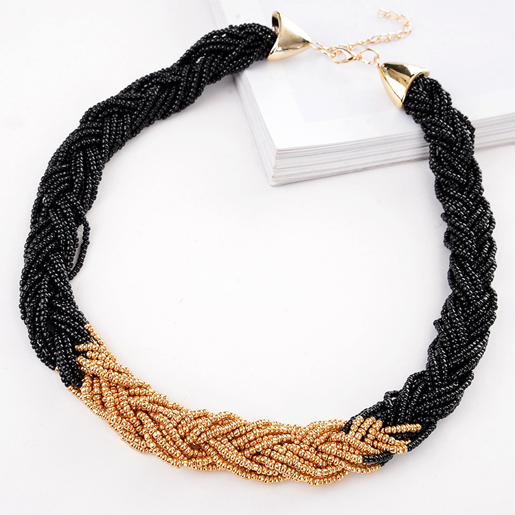Hot Women Fashion Cute Retro chain Necklace Bohemian wild bead Best Gift jewelry N1158  - buy with discount