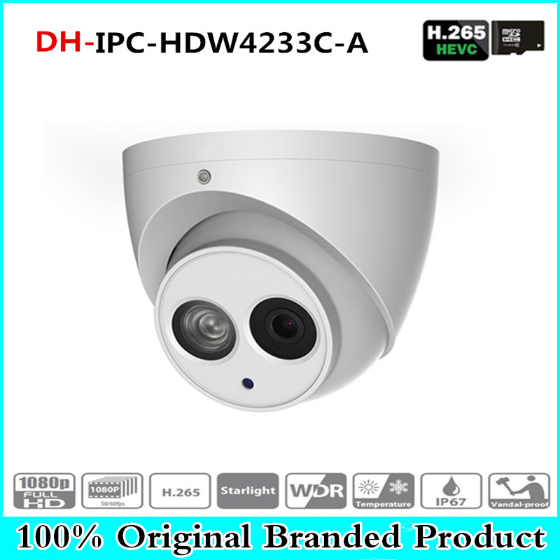 DH Wholesale IPC-HDW4233C-A 2MP Dome Network IP Camera Built-in Mic Small IR HD WDR POE H.265/H.264 IPC-HDW4233C-A цена 2017