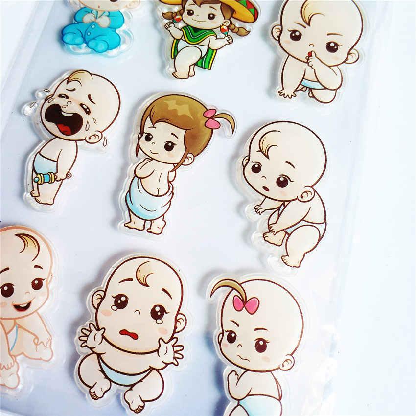 Hot sale Lovely baby Transparente Claro Selos/Selos Selo Do Rolo de Silicone para DIY scrapbooking álbum de fotos/Cartão Que Faz