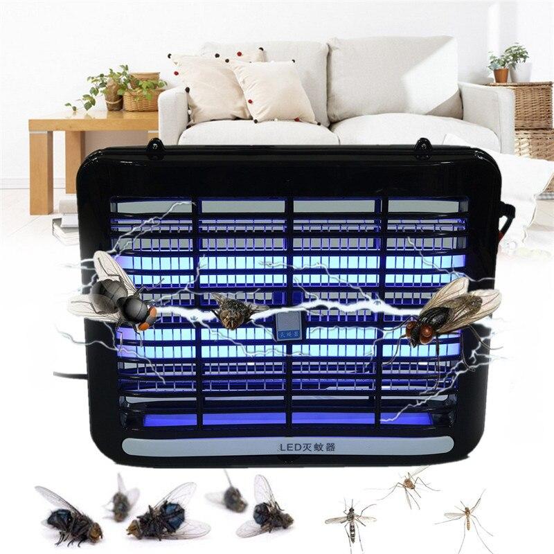 LED Assassino Zanzara Elettronico Lampada Lampade 220 V 1 W Fly Bug Zapper Insetto Trappola Della Luce per La Casa soggiorno, camera da letto, cucina