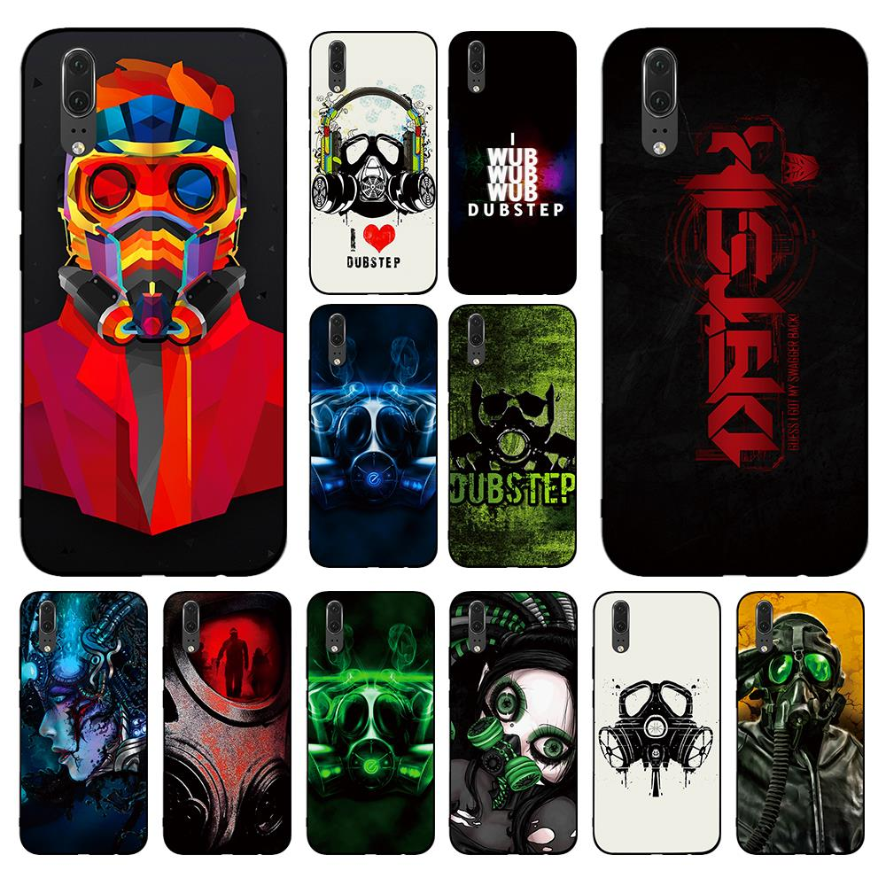 Dubstep Gas Mask for Huawei P8 P9 P10 P20 P30 Lite Pro P Smart 2016 2019 TPU Soft Silicone image