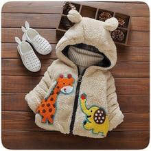 cute animal Fawn elephant baby boys jacket autumn winter boys coats thick infant kids clothes for boys roupas infantis menino