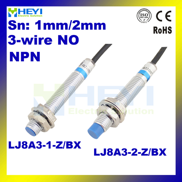High quality Metal Inductive Proximity Sensor NPN NO Sn 1mm or 2mm 3 ...