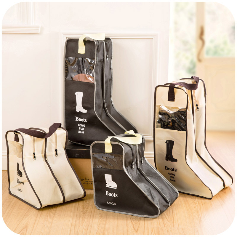 Portable Shoes Home Boots Carrying Cabin Bag Visual Dust Proof Boots Box Boots Storage Zipper Boots Bag