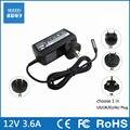 12 v 3.6a 45 w laptop ac power adapter carregador para microsoft surface pro1 pro2 pro 1 pro 2 tablet eua/ue/reino unido plug