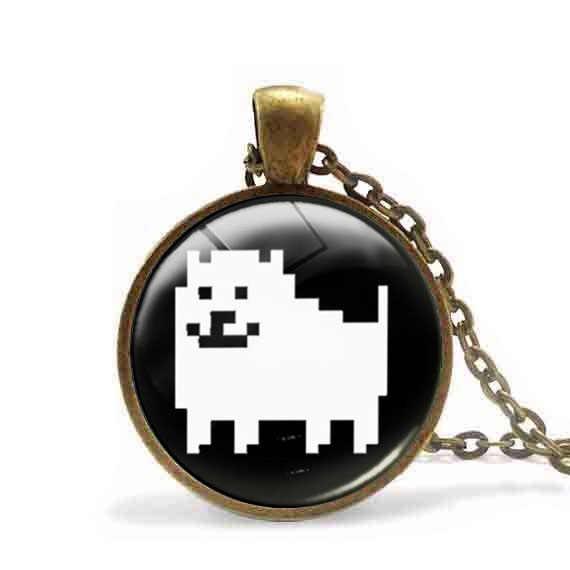 Античное ожерелье Undertale Sans раздражающая собака кулон ожерелье игра геймер игровые украшения стимпанк Мужская цепочка Женская мода игрушка