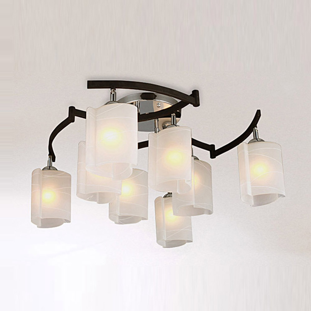 Chinese Style Rocker Arm Living Room Glass Ceiling Lamp -5992