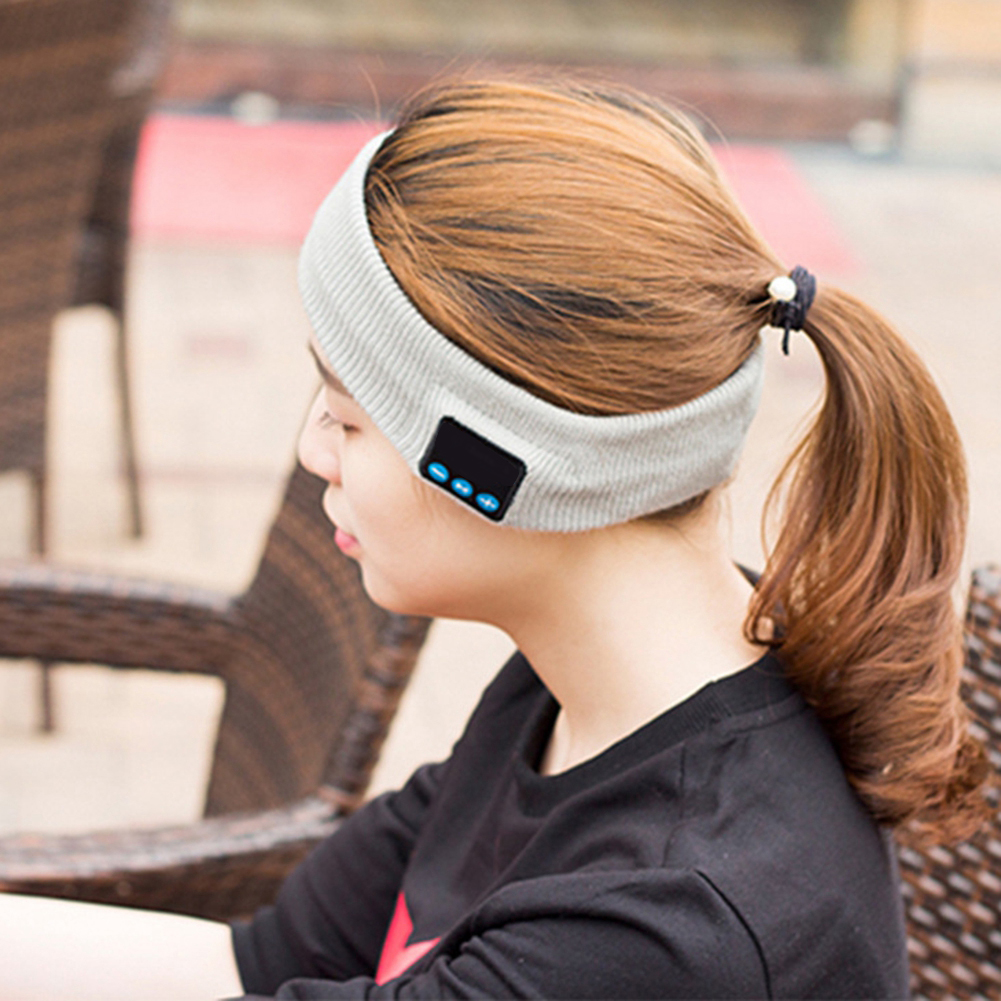 New Headband For Bluetooth Built-in Wireless Headphone Speakers Knitted Washable Detachable Handsfree Yoga Running Headwear