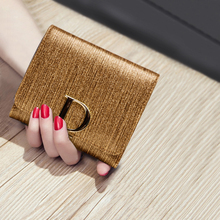 2017 New Women's Three Fold Wallet Ladies Purse Folding Little Coin Purse Genuine Leather Short Simple Thin Wallet Clutch Bag