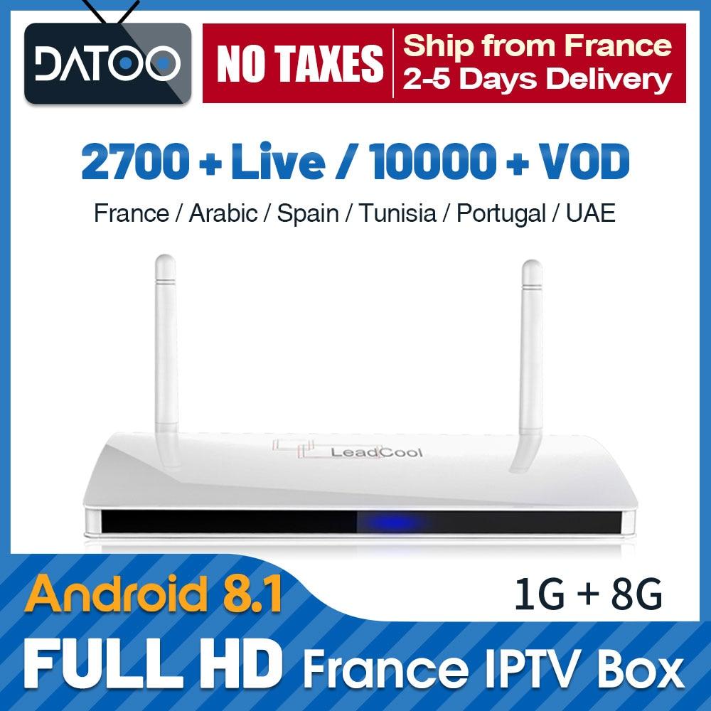 IP tv Франция Qatar IP tv Leadcool tv Box 4K Full HD французский IP tv Арабский португальский IP tv Android 8,1 Франция, Италия IP tv подписка-in ТВ-приставки from Бытовая электроника