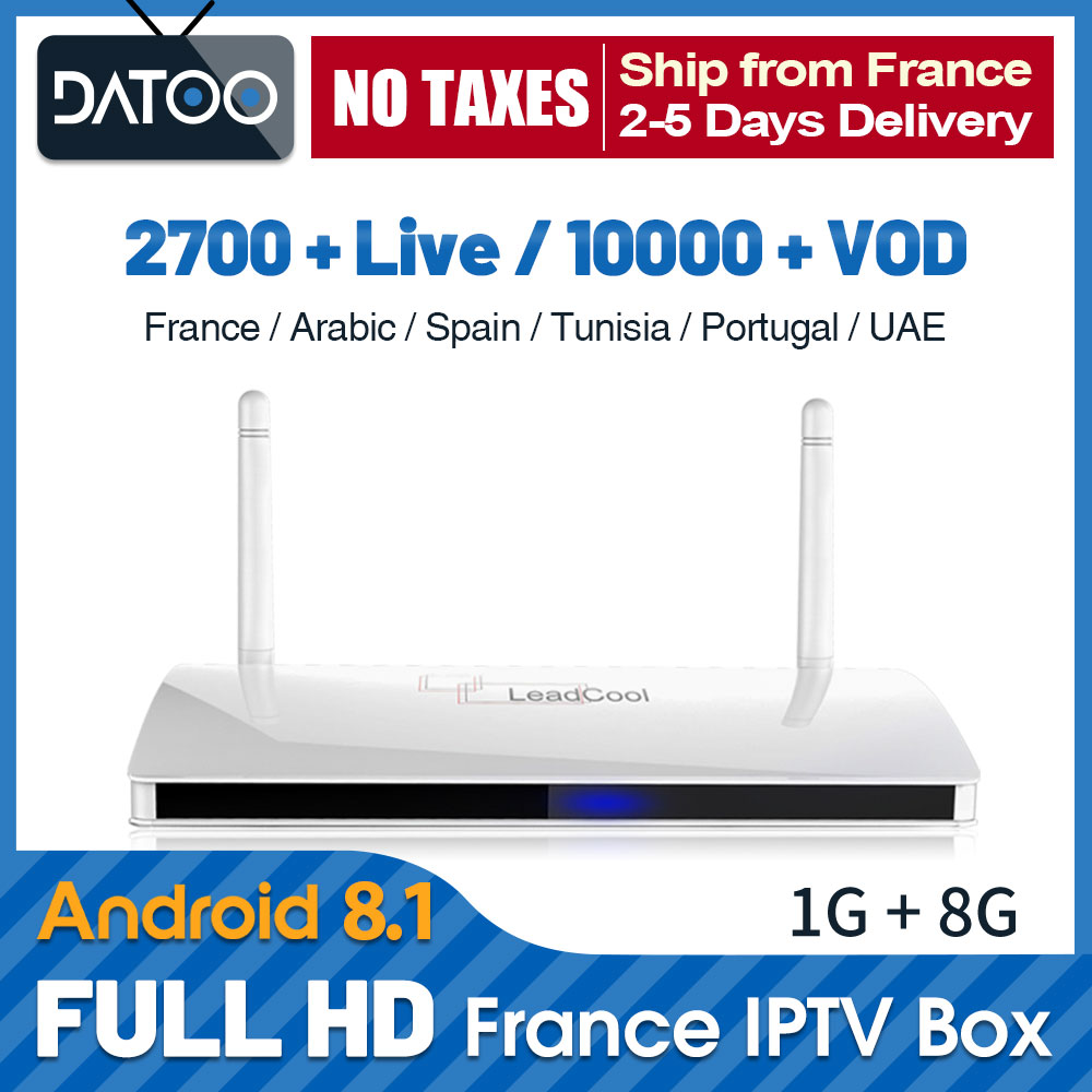 IPTV France Qatar IP TV Leadcool TV Box 4K Full HD French IPTV Arabic Portugal IP TV Android 8.1 France Italy IPTV Subscription-in Set-top Boxes from Consumer Electronics
