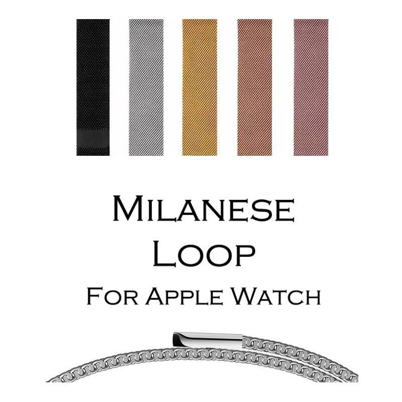 Milanese Boucle Bande pour Apple Montre 38/42mm Série 1/2/3 En Acier Inoxydable Sangle Ceinture Montre-Bracelet en métal Bracelet de Remplacement.