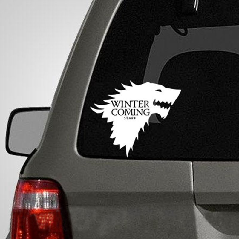 Stark Vinyl decal Car stickers Game of Thrones sticker for laptop portable automoblie stickers T180624 ...