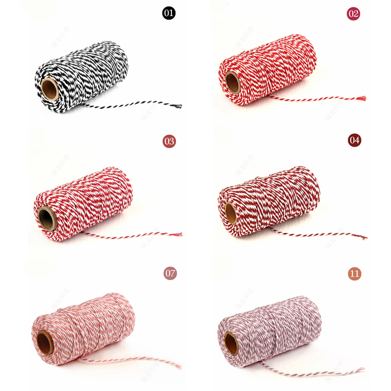 Image 3 - DIY Twisted Cords Gift Packaging Accessories Packing Decoration Wedding Party Packaging Double Color Cotton Baker Twine Rope-in Cords from Home & Garden