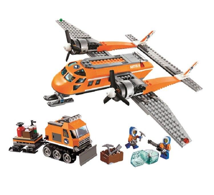 Bela 10441 391 Pcs Model Building Kits Compatible With Lego City 60035 Arctic Supply Plane 3D Brick Fighter Blocks Toys