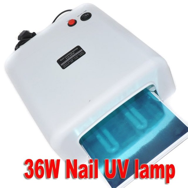 36W gel curing uv lamp 110-120V/220-240V Nail UV Lamp Gel Curing 4X9W Light Tube Nail Dryer White/Pink+China post Free Shipping
