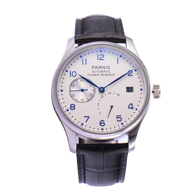 Parnis Mens Business Water Resistant Power Reserve Dress Seperate Second Dial Automatic Self Wind Mechanical Wrist WatchesParnis Mens Business Water Resistant Power Reserve Dress Seperate Second Dial Automatic Self Wind Mechanical Wrist Watches