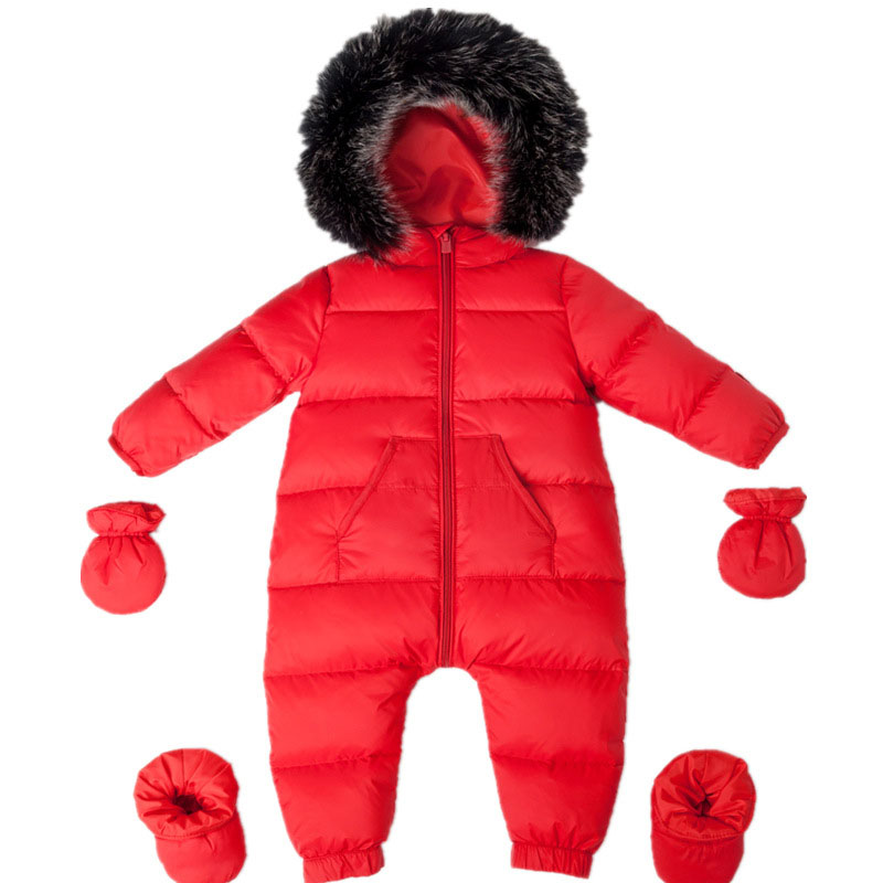 -40 Winter Baby Snowsuit 90% Duck Down Jacket for Girl Coats Winter Park for Infant Boy Snowsuit Snow Wear Baby Winter Clothes baby christmas reindeer cotton snowsuit with hat newborn baby girl boy clothes skiing snowsuit for boys winter coats and jackets