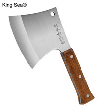 King Sea Household Chop Big Bone Axe Chef Strong Chopper Butcher Ridge Knife Tool Outdoor Cut Trees Firewood Survival Axes(China)