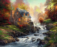Framed Painting By Number Wall Paiting Picture Oil Painting For Living Room 4050 Cobblestone Mil