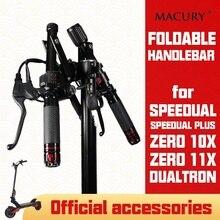 Speeddual plus T10 ddm zero 10x 11x dualtron ox oxo 전동 스쿠터 용 접이식 핸들 바 부품 접기 25.4 31.8mm