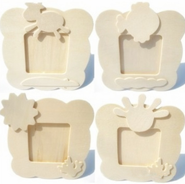 diy wooden photo frame kids favor photo frame diy toy can paint color - Wooden Picture Frames To Paint
