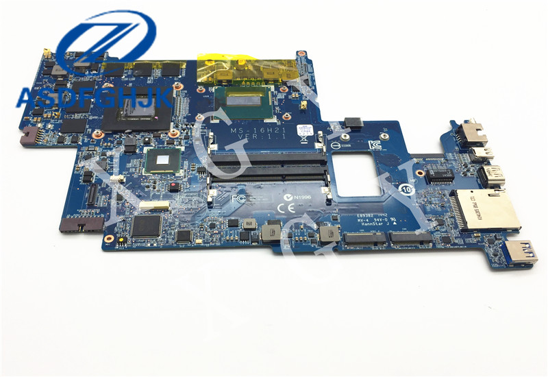 Original stock LAPTOP MOTHERBOARD FOR MSI GS60 MOTHERBOARD MS 16H21 MS 16H2 with I7 CPU and GTX860M 100% Work perfectly