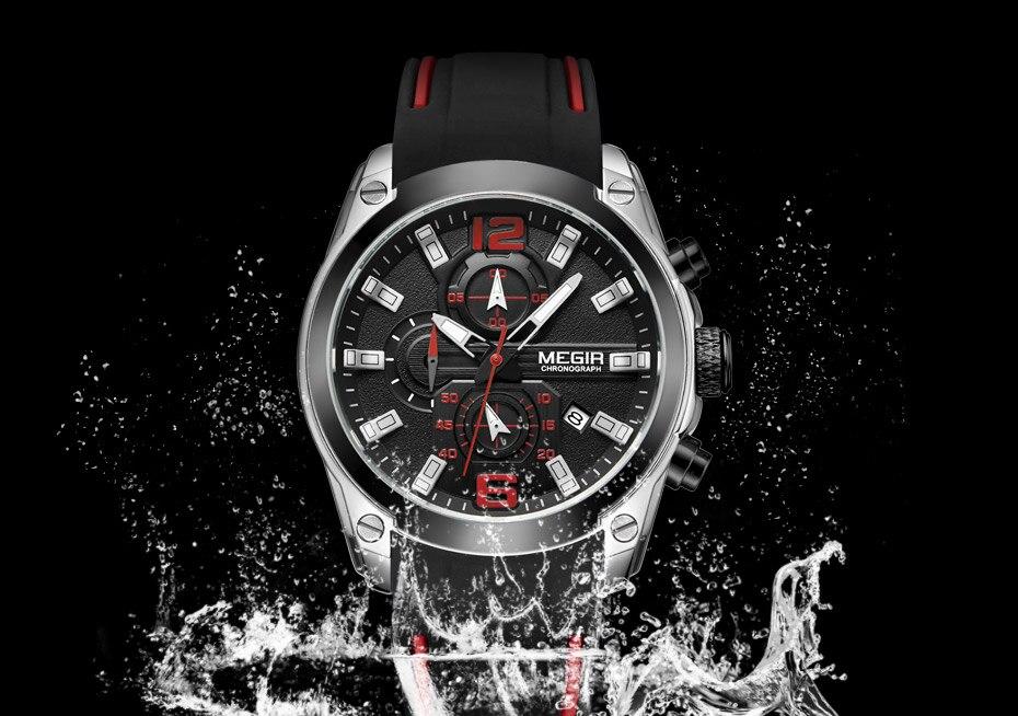 Esportes de corrida cronógrafo quartzo relógios de