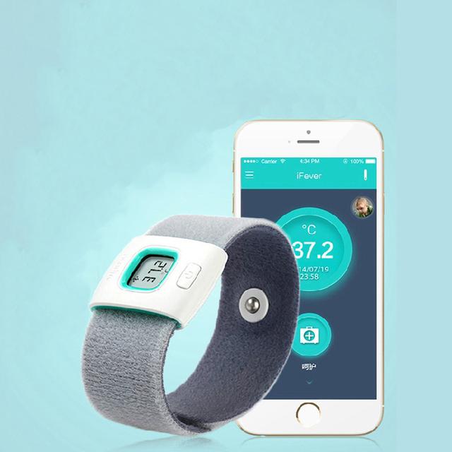 IFever Niños portátiles inteligentes Bluetooth inteligente sleep monitor de bebé recién nacido termómetro hogar termómetro electrónico