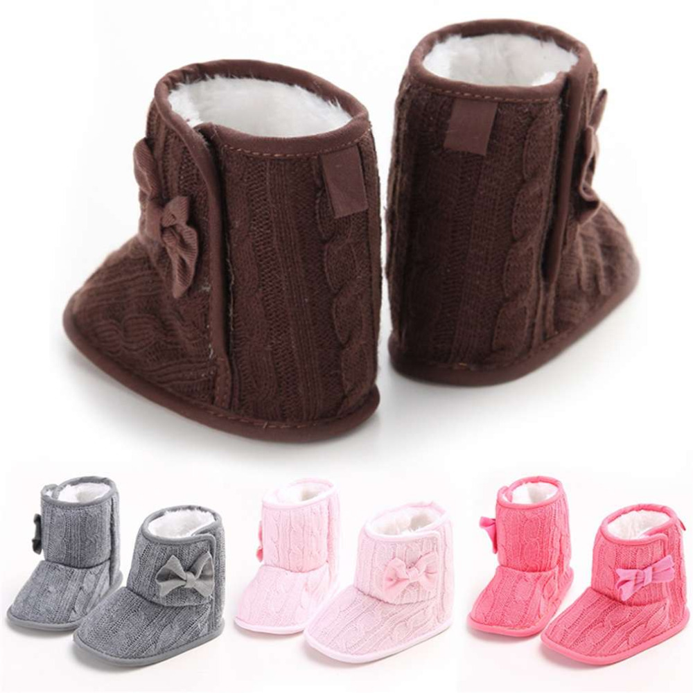 Hot! Cute Autumn Winter Warm Baby Boy Girls Shoes Soft Sole Kids Toddler Infant Boots Prewalker First Walkers New Sale