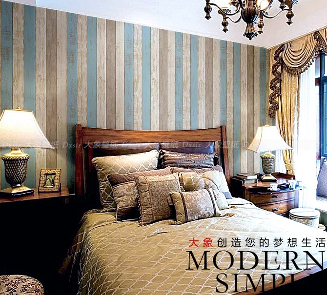 2016 new selling American country stripe non-woven wallpaper Children room non-woven bedroom living room TV setting wall paper new 2016 hot selling cartoon sleeping bear children baby room non woven wallpaper sitting room bedroom wall paper boy princess