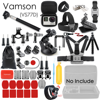 Vamson for Gopro Accessories Set for go pro hero 8 7 6 5 4 kit 3 way selfie stick for Eken h8r / for xiaomi for yi EVA case VS77 11