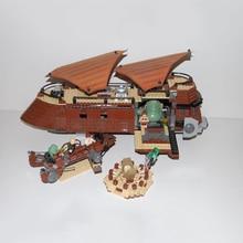 Звездные войны строительные блоки Jabba Парусная баржа модель совместимые части игрушек Legoed 6210 05090