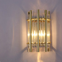 Sitting room gold long tube Wall light Lamps luxury wall sconce for Living Room Wandlam Corridor Lamp Hotel guest room Wall Lamp