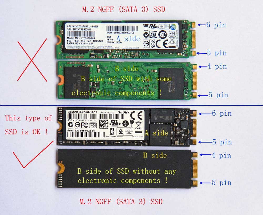 adapter card to 128G 256G 512G NGFF SSD for 2010 2011  A1370 A1369