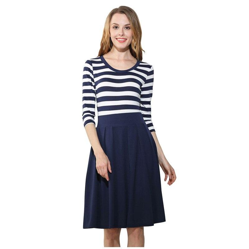The fair maidens dress ,three quarter sleeves concise women dress,patch work Big round c ...