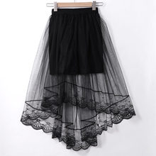 Hirigin Vintage Women Stretch Lace Up Floral High Waist Plain Skater Flared Pleated Long Skirt(China)