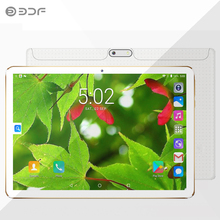 BDF Russian Warehouse Moscow shipped New 10 inch 4GB+32GB 3G Tablet pc Phone Call  SIM card Android 7.0 Quad Core CE Brand WiFi