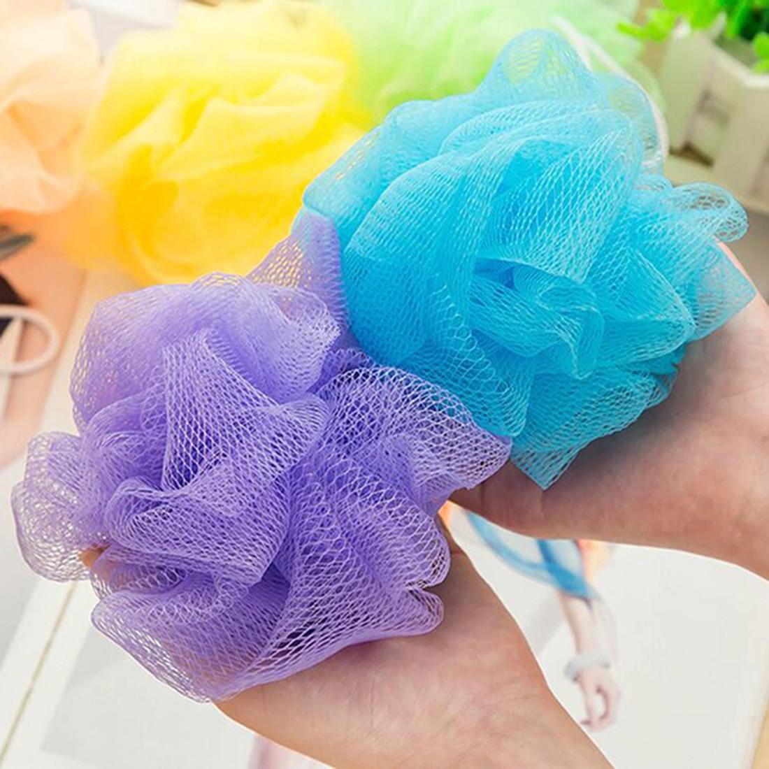 Random Color Bubble Loofah Flower Bath Ball Lot Bath Flower Sponge Bath Rub High Quality Bath Toiletries