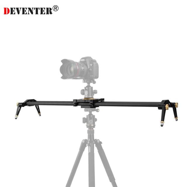 Deventer 23.6in 60CM Carbon Fiber Camera Track Slider Video Stabilizer 6 Bearings Rail Systems DSLR DV Camcorder Load up 18KG
