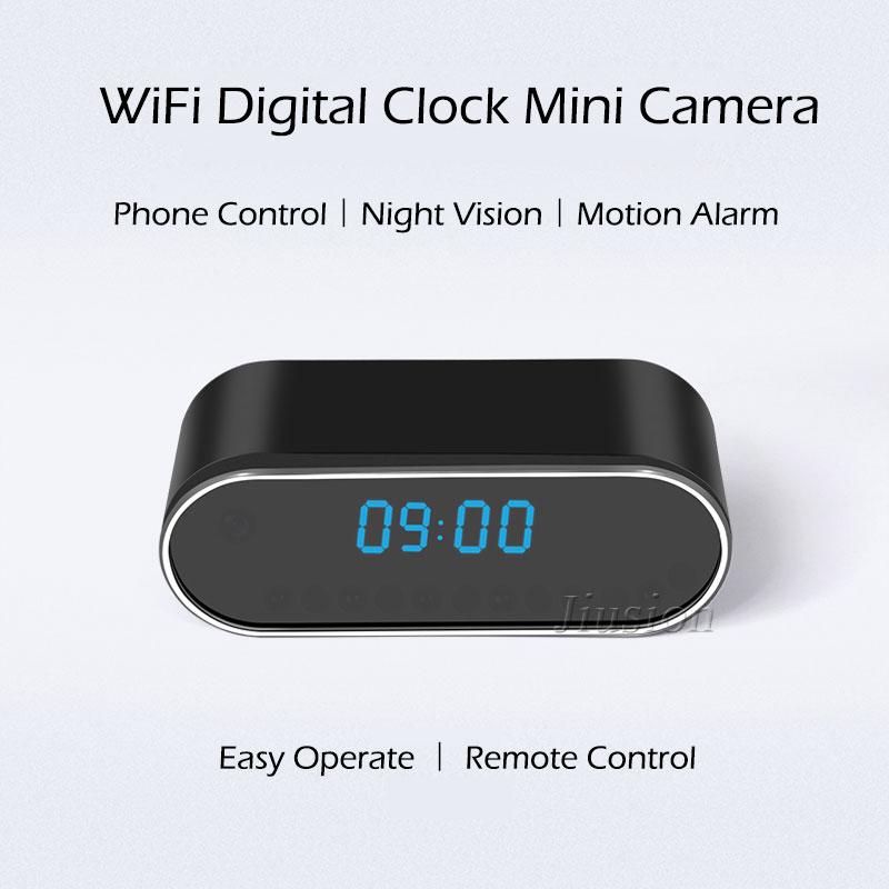 Details about H 264 WiFi Table Clock Mini Camera 1080P HD IP P2P DVR  Camcorder Alarm Set Night