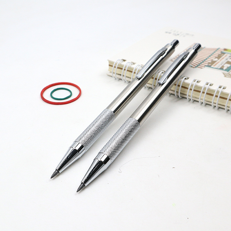 High Quality Metal Mechanical Pencil 2.0mm 2B Sketch Drawing Automatic Pencil Send 2 Pencil Lead For School Office Stationery