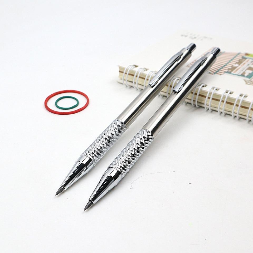 Crayon mécanique en métal de haute qualité 2.0mm 2B croquis dessin crayon automatique envoyer 2 crayon plomb pour la papeterie de bureau scolaire