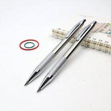Crayon mécanique en métal de haute qualité, 2.0mm 2B, automatique pour dessin de croquis, envoi de 2 crayons, pour papeterie scolaire et de bureau