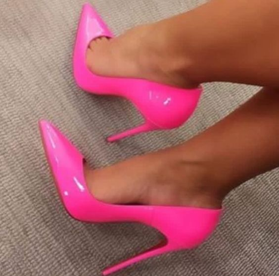 Hot Selling Rose Pink Patent Leather High Heel Woman Shoe 2019 Sexy Pointed Toe Thin Heels Pumps 12CM Party Dress Heels Hot Selling Rose Pink Patent Leather High Heel Woman Shoe 2019 Sexy Pointed Toe Thin Heels Pumps 12CM Party Dress Heels