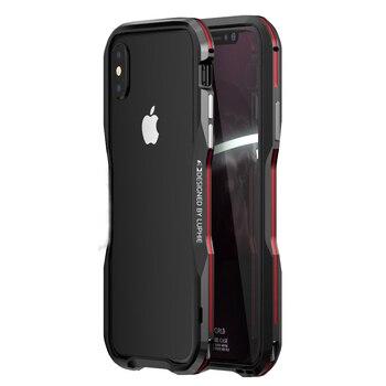ل iphone X 7 8 زائد XR XS ماكس حالة غطاء فاخر الوفير رقيقة الصلب 3D 360 واقية قذيفة معدنية الوفير الألومنيوم الإطار درع
