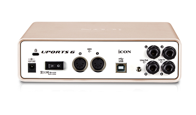 icon uports 6 usb recording interface provides an audio input and output usb external sound card. Black Bedroom Furniture Sets. Home Design Ideas