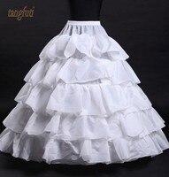 Petticoat For Wedding Dresses 5 Layers Women Underskirt White Jupon Crinoline Sottogonna Hoop Skirt Hoepelrok