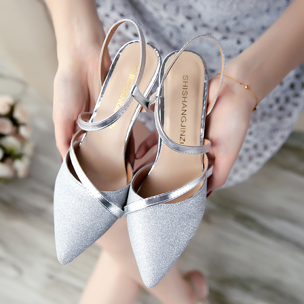 2018 spring heel High Heels Sandals lady Pumps classics slip on Shoes sexy Women party Wedding Pointed Toe High Heels Shoes fashion brand name women high heels shoes patent leather pointed toe slip on footwear chunky heel party wedding lady pumps nude